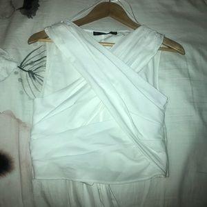 Zara White Wrap Blouse Size M